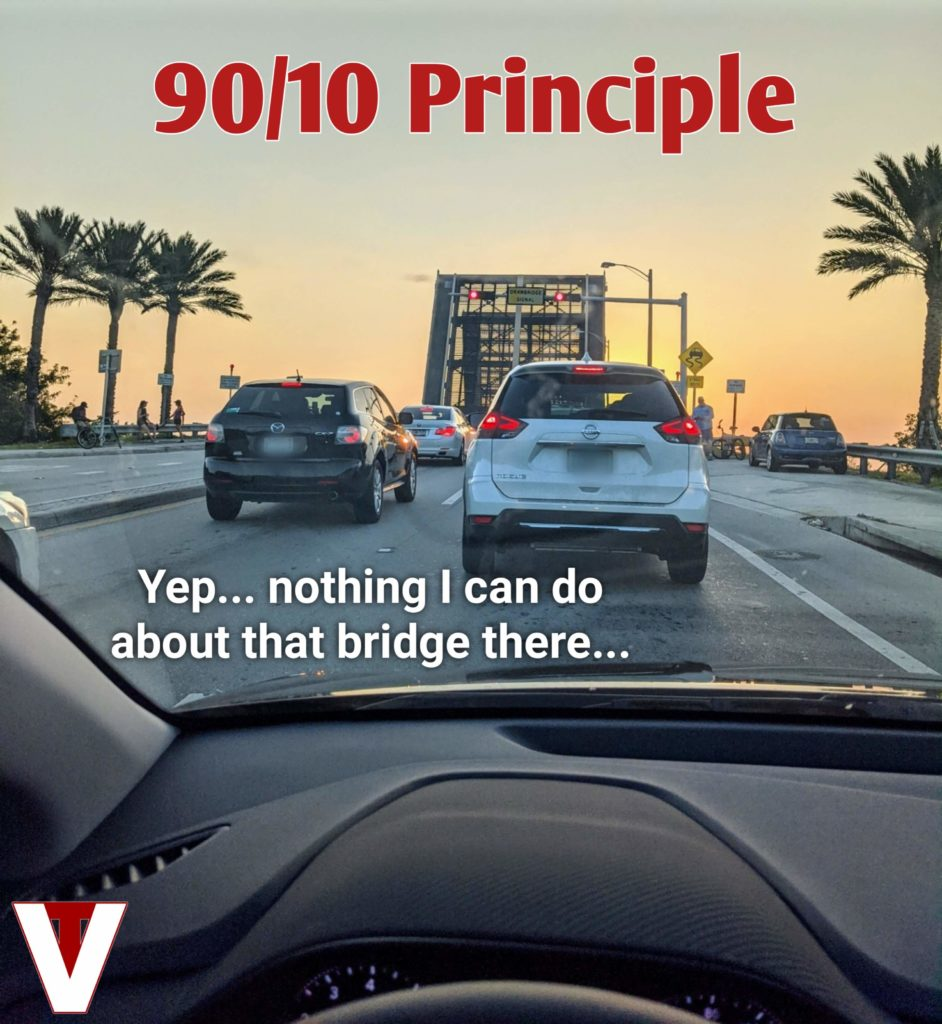 90/10 principle in use, VitalyTennant.com, 9010 rule