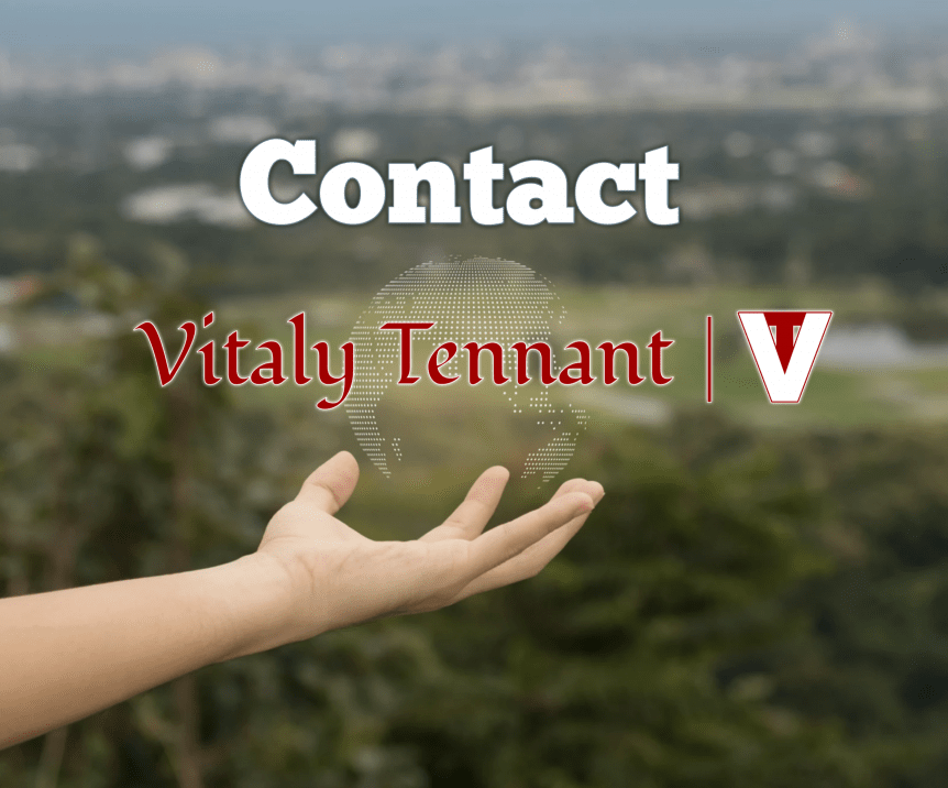 Contact Vitaly Tennant, VitalyTennant.com, VT, form