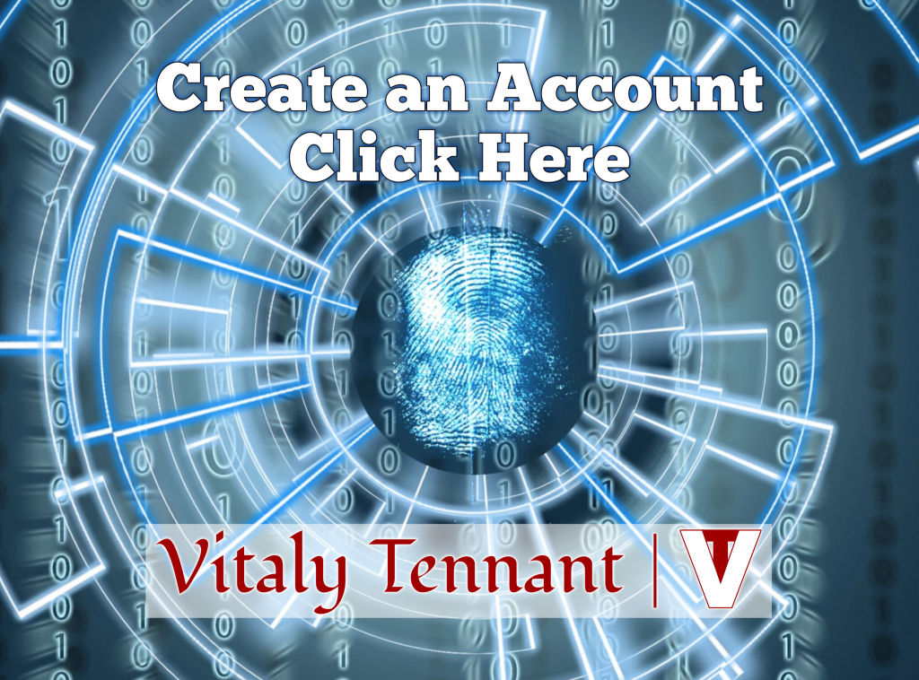 Create an Account and Register to VitalyTennant.com